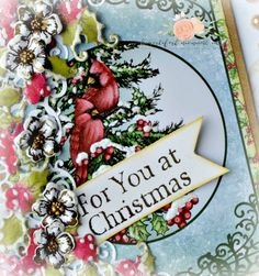 Birds and Blooms flowers used with the Festive Holly Collection by Heartfelt Creations...