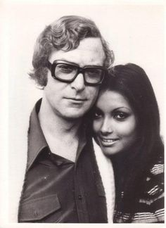 Michael Caine & wife Shakira Baksh. I love him.