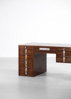 bureau art deco moderniste pierre jeanneret jacques adnet perriand12 Pierre Jeanneret, Office Desk, Corner Desk, Boutique, Vintage, Design, Furniture, Home Decor, Style