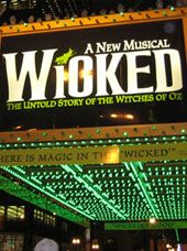 Gershwin Theatre on Broadway.  Home of the musical Wicked.