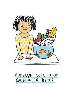 Veel beterschap - Prints - Shop - Eva Mouton