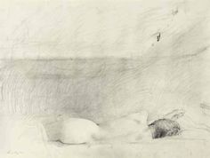 "Andrew Wyeth (1917-2009), study for ""Barracoon""   pencil on paper, 18 x 23¾ in, 1976."