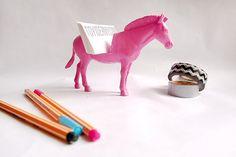 Light Pink Zebra Business Card Holder // Unique Gift Idea via Etsy