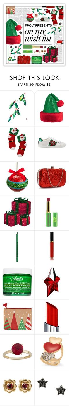 """""""#PolyPresents: Wish List"""" by beanpod ❤ liked on Polyvore featuring Gucci, Tata Harper, NYX, Chanel, Kiehl's, Thierry Mugler, By Terry, Thalia Sodi, La Perla and Astley Clarke"""