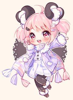 [+Video] Commission - Bunbun Chibi by Hyanna-Natsu on DeviantArt Chibi Kawaii, Cute Anime Chibi, Kawaii Art, Kawaii Anime Girl, Chibi Characters, Cute Characters, Cute Anime Character, Hyanna Natsu, Dibujos Anime Chibi