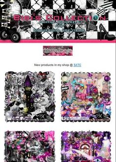 """Ad:$1 Thursday Madness,New Scrapkits """"DARK BRIDE"""",""""TOYLAND"""", & More by Bibi's Collection! http://mad.ly/0f6253"""