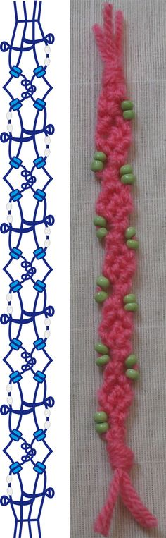 Macrame pink ribbon photo tutorial