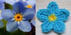 Crochet Arcade Pattern Designs: Free Crochet Flower Pattern Day 7 - Forget-me-not