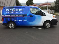 Partial van vehicle wrap for KSBY, please click here http://bit.ly/1kPvh18 to see more pictures.