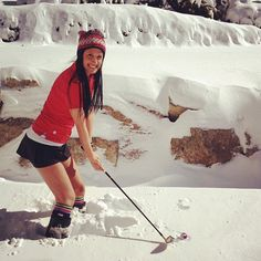Winter #golf.......I pray it doesn't look like this on Saturday but I will NOT be wearing a skirt!  bRRRRR!