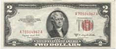2 Dollars 1953B (Jefferson) Legal Tender Note