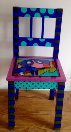 Hand Painted Chairs, Hand Painted Furniture, Chess Table, Fun, Painting, Boho, Home Decor, Painted Chairs, Manualidades