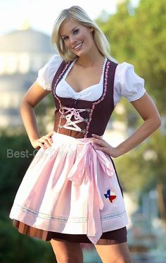 dirndl. Did you see the Texas enbroidered on apron  That's getting added too