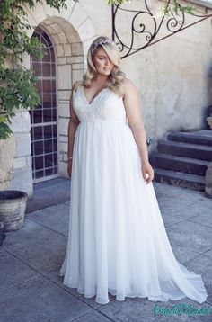 Simple plus size wedding dress Andrea Wedding Gown