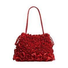Valentino Red Rosette Shoulder Bag