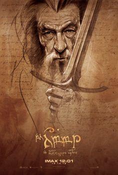 Zauberer Gandalf aus Hobbit und Herr der Ringe