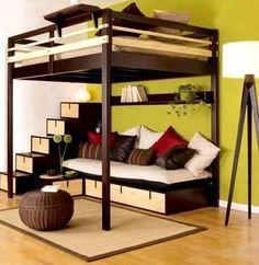 22 Unique Beds, Designer Furniture for Modern Bedroom Decorating Loft Furniture, Basement Furniture, Furniture Design, Furniture Removal, Street Furniture, Plywood Furniture, Furniture Stores, Mezzanine Bed, Bedding Sets Online