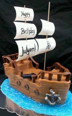 Avast! It's a Pirate Ship Cake! - by SugarBabyCakes @ CakesDecor.com - cake decorating website