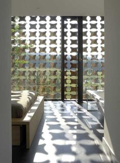 "Detail of wood screen in the ""Biscuit House"" by aum. The wood curtain is the… Wood Curtain, Modern Windows, Interior Decorating, Interior Design, Interior Ideas, Architecture Details, Amazing Architecture, Contemporary Architecture, My Dream Home"