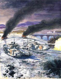 Imperial tanks in battle. https://scontent-a-atl.xx.fbcdn.net/hphotos-frc3/t31.0-8/q79/s720x720/1398372_820167414679068_2106769666_o.jpg