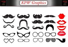 Items similar to Moustaches, Glasses and Lips Clip-art Set in a PNG format. Personal & Small Commercial use on Etsy Png Format, Moustaches, School Projects, Commercial, Lips, Clip Art, Social Media, Scrapbook, Invitations