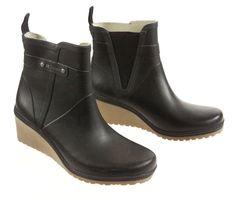 Tretorn Ruin Black Chelsea Wedge Boot 2.5 Inch Heel Size Not Apparent #TretornRuin #Rainboots #Casual