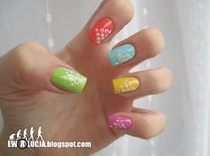 Cool multi-colored nails