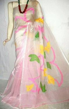 The beautiful hand loom sareec collection with nice and bright color. These sarees are handloom jamdani kot...