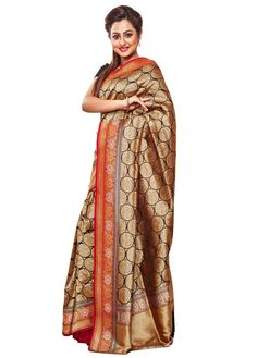 Hand Woven Rich Zari Thread Work Black Opara Pure Silk Saree With Blouse - Silk Sarees Online, Traditional Sarees, Thread Work, Pure Silk Sarees, Favorite Color, Hand Weaving, Sari, Indian, Pure Products