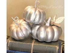 Pottery Barn-inspired Mercury glass pumpkins