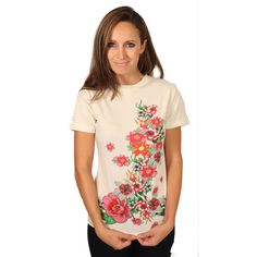 Raw 7 Floral Crew Neck T-Shirt