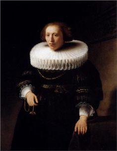Portrait Of A Woman - Rembrandt.  Art Experience NYC  www.artexperiencenyc.com/social_login/?utm_source=pinterest_medium=pins_content=pinterest_pins_campaign=pinterest_initial