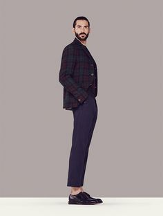 """Introducing the first of our Made in Britain men; artist and model Luke. """"Tom Ford said he likes to dress up everyday as a compliment to those people around him I like that idea you're keeping up appearances to show respect for your friends."""""""