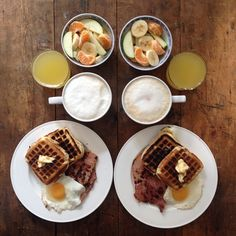 Instagram media symmetrybreakfast - Saturday: I'm feeling inspired by out #NYC trip. #Waffles with ham and eggs #breakfast #symmetrybreakfast #saturday #london #hamandeggs #coffee #weekend