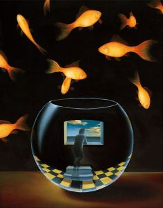 Made by: Samy Charnine , Life in a Wish Bowl - Surrealism