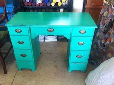 Cece caldwell Emerald Isle painted desk