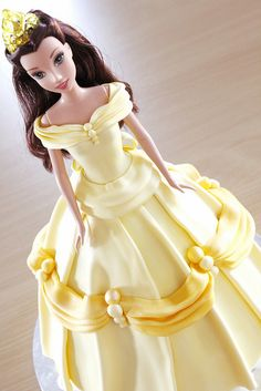 Belle Dolly Varden Barbie cake by Say it with Cake, via Flickr