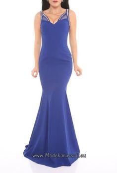 V Ausschnitt Abendkleid Calita Blau