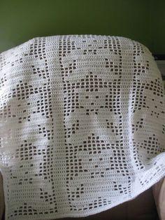 ₩₩₩ Teddy Bear Blanket Filet crochet