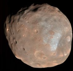 NASA's Mars Reconnaissance Orbiter took this image of Phobos, the larger of Mars' two moons. This Martian moon orbits the closest to its primary of all the known moons in the solar system--a mere few thousand miles above the surface of Mars. Credit: NASA / JPL / University of Arizona