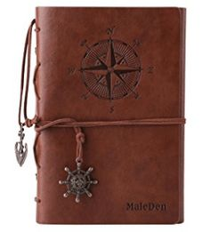 Leather Writing Journal Notebook MALEDEN Spiral Daily Notepad Classic Embossed Travel Journal to Write in with Unlined Paper and Retro Pendants Brown Best Travel Journals, Leather Travel Journal, Leather Notebook, Diy Projects To Sell, Crafts To Make And Sell, Journal Diary, Journal Notebook, Bullet Journal, Journal En Cuir