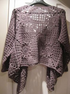 20 Gorgeous Free Crochet Cardigan Patterns for Women: Square Motif Cardigan Crochet Assembly Tutorial