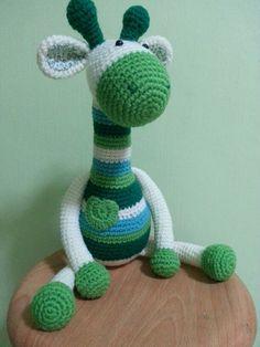 Crochet giraffe armigurumi. Handmade by me with pattern from http://www.artedetei.com/2013/02/amigurumi-giraffe-english-pattern.html?m=1