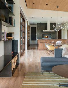 #Moderne Innenräume Modernes Haus In Der Nähe Von Wyoming Mountains  Profitiert Von Seiner Lage #