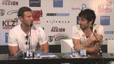 Eoin Macken and Tom Hopper from Merlin in Wizard Con Madrid
