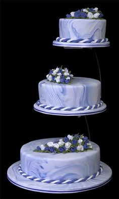 separate wedding cakes on stands something to go with the metal ring toppers 3 tiered 19751