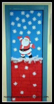 Kindergarten of the Five: door decoration ! - New Deko Sites Christmas Classroom Door, Office Christmas, Christmas Art, Christmas Projects, Christmas Door Decorating Contest, Holiday Door Decorations, School Decorations, Holiday Decor, Theme Noel