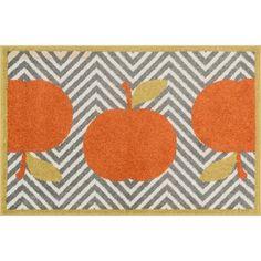 Maddy Grey/ Orange Chevron Rug (2'5 x 3'9)