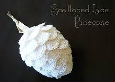 How to Make Victorian Style Lace Christmas Ornaments
