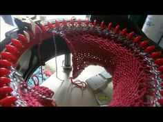 Fatimas Fabulous Cardigan knitting the back Addi Knitting Machine, Circular Knitting Machine, Knitting Help, Knitting Machine Patterns, Knitting Socks, Addi Express, Finger Crochet, Loom Knitting Projects, Textiles